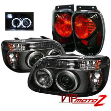 Ford Explorer 98-01 Black 1PC Halo Projector Headlights+Altezza Tail Brake Lamps