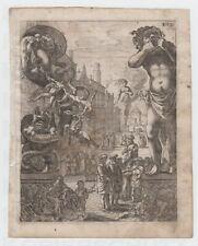 Kupferstich um 1650 Illustration zu Wunderliche Reise des Fernao Mendez Pinto