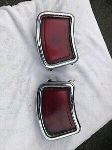 1966 Pontiac Lemans Tempest Pair Tail Lights Lens Bezel OEM GM