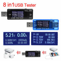8in1 Mini Digital USB Tester LED Charging Doctor Voltage Current Meter Detector