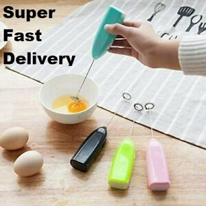 Mini Milk Frother Electric Egg Beater Hand Shake Whisk Mixer Coffee Tool Kitchen