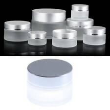 2PCS 5g-100g Frosted Glass Empty Refillable Bottle Cosmetic Jar Cream Container