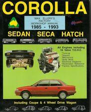 Max Ellery's Corolla Workshop Manual 1985-1993 Sedan, Seca, Hatch, New, Max Elle