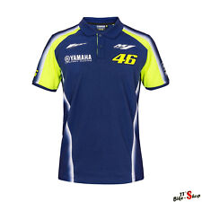 VR46 Polo Shirt in Blau, Valentino Rossi/Yamaha Racing-Print in Größe M - 50