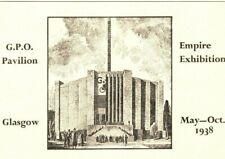 GB MACHINE Cover 1938 SCOTLAND Glasgow Empire Exhibition GPO Pavilion Card GP260
