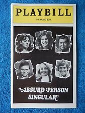 Absurd Person Singular - Music Box Playbill - January 1976 - Sandy Dennis - Page