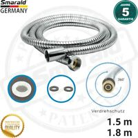 "Brauseschlauch 1.5 m 1.8 m m. Verdrehschutz 360° Edelstahl 1/2"" (DN 15) Germany"