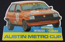 Antiguo Pegatina Austin Metro Taza Turbo MG Rover Deporte Motor Pegatina
