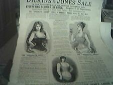 magazine item 1895 - advert dickins & jones sale regent street