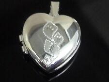 nuova argento 925 pendente lucchetto cuore
