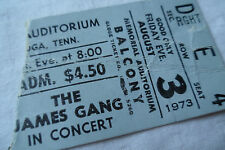 THE JAMES GANG Original__1973__CONCERT TICKET STUB__Chattanooga