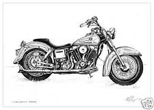 Limited Edition Harley Davidson Print by Kathryn Saunby