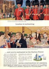1962 Hotel Corporation of America PRINT AD London is Enchanting Great vintage ad