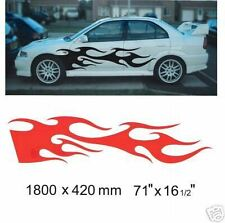 LARGE FLAME FIT CAR, VAN, CAMPER, PICKUP, DECALS GRAPHICS STICKERS KIT 021