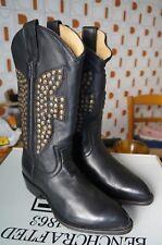Frye Billy Hammered Stud, bottes femme - Noir (Blk), 37 EU (5 UK) 7 US