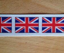 1m Drapeau Britannique Royaume-Uni Union Jack Ruban 1.3cm 13mm Nœud Planche à