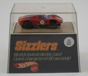 Hot Wheels Sizzlers Red Ford Mk IV in Case