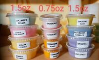 Scented Candle SOY blend Wax Tarts Melts Strong CHOOSE SCENTS 1.5 oz Cup or 0.75