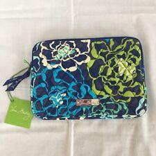 VERA BRADLEY Katalina Blues E-Reader Tablet Sleeve New W Tag Blue Green Floral