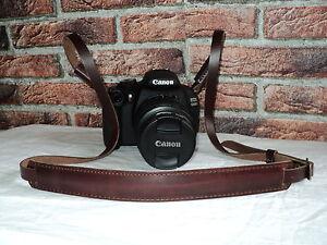 Vintage Echt Leder DSLR Kamera Tragegurt Trageriemen Leather Camera Strap