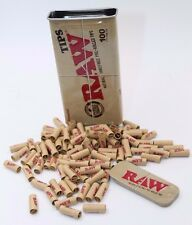 100 Raw Pre Rolled Tips  with Raw Slide Tin