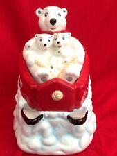 Coca-Cola Polar Bear Downhill 2005 Cookie Jar