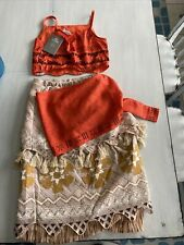Disney Store Moana Child Costume Size 11/12 Cosplay Halloween Girls Nwt