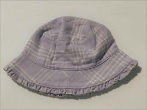 NEW Vintage Baby GAP Purple Plaid HAT Size 6-9-12 mo NWT
