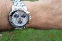 TISSOT PRC 200M DIVERS CHRONOGRAPH SAPPHIRE GLASS DATE WATCH QUARTZ BRACELET VGC