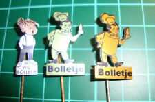 Bolletje beschuit stick pin badge 60's lapel 3pcs speldje Dutch sa1