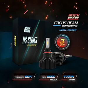 Stark NS 80W 9000LM Perfect Beam LED Light Kit White 6K Bulbs Headlight High Fog