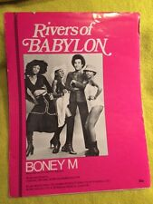 Boney M 70's Sheet Music Rivers of Babylon words and music by Farian, Reyam
