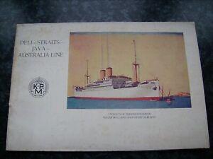 SS NIEUW HOLLAND SS NIEUW ZEELAND XTR. RARE DELUXE ART DECO BROCHURE K.P.M.1928