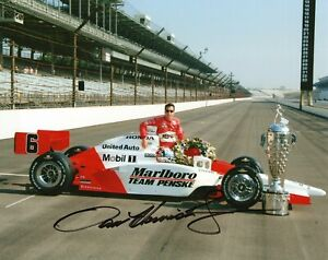 Authentic Autographed Sam Hornish Jr. 8x10 Indianapolis Indy 500 Photo