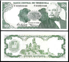 World Paper Money - Venezuela 20 Bolivares 1998 Series F8  P63 @ AU