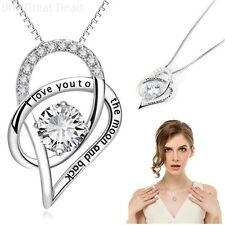 Sterling Silver Necklace Gift Wife I Love You Birthday Present Girls Lady