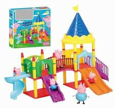 Peppa Pig Amusement Park Playset Set Christmas gift Doll With 4PCS Figures Toy