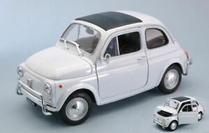 Fiat 500 l 1968 white 1:18 auto stradali scala welly