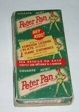 1950's Peter Pan Soap w/ Premium Foreign License Plate offer Disney metal