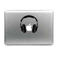 Sticker / Autocollant / Décalque - Casque Audio -  Apple MacBook - Ordinateur
