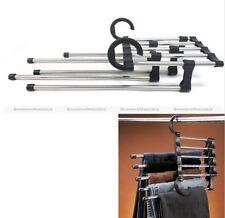 Space Saver Hangers Closet Organizer Pant Stand Rack Magic Hanger 5 In 1