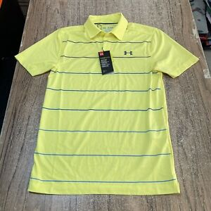 Under Armour Golf Heat gear Men's Striped Polo Shirt Size XS NWT $75 #19683