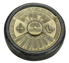 Authentic Models BC006 50-Year Calendar  Perpetual Calendar Green Marble / Brass