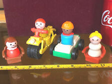 Fisher Price Toys Vintage Bundle 4x Mini Fig Bike Car Seats x2 Very Old Toy Toys