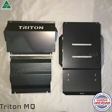 MQ Triton - 3mm Raw/Mild Steel, 3pce Bash Plate Set (Radiator To Transmission)