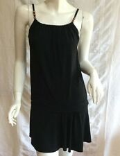 Black stretch Dress - spagetti straps by Undercover Wear - Size 12 Made in Aust