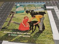 1965 Salem Cigarette Ad  Couple on the Farm Cows