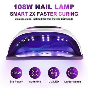 Gel UV LED Nail Lamp,Villsure 108w Nail Dryer UV LED Gel Nail