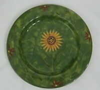 "Certified International Susan Winget Savannah Green Dinner Plate Round 11"""