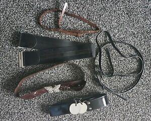 6 x Ladies Size M/L Belts. Diamante Butterfly, Cherries, Bows Etc. Black/Brown